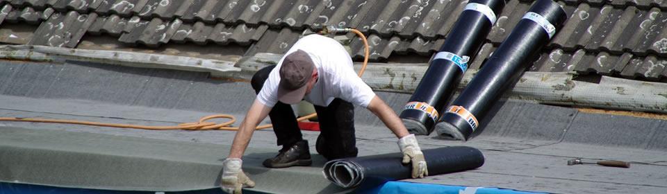 plat dak isoleren dakdekker Schiedam